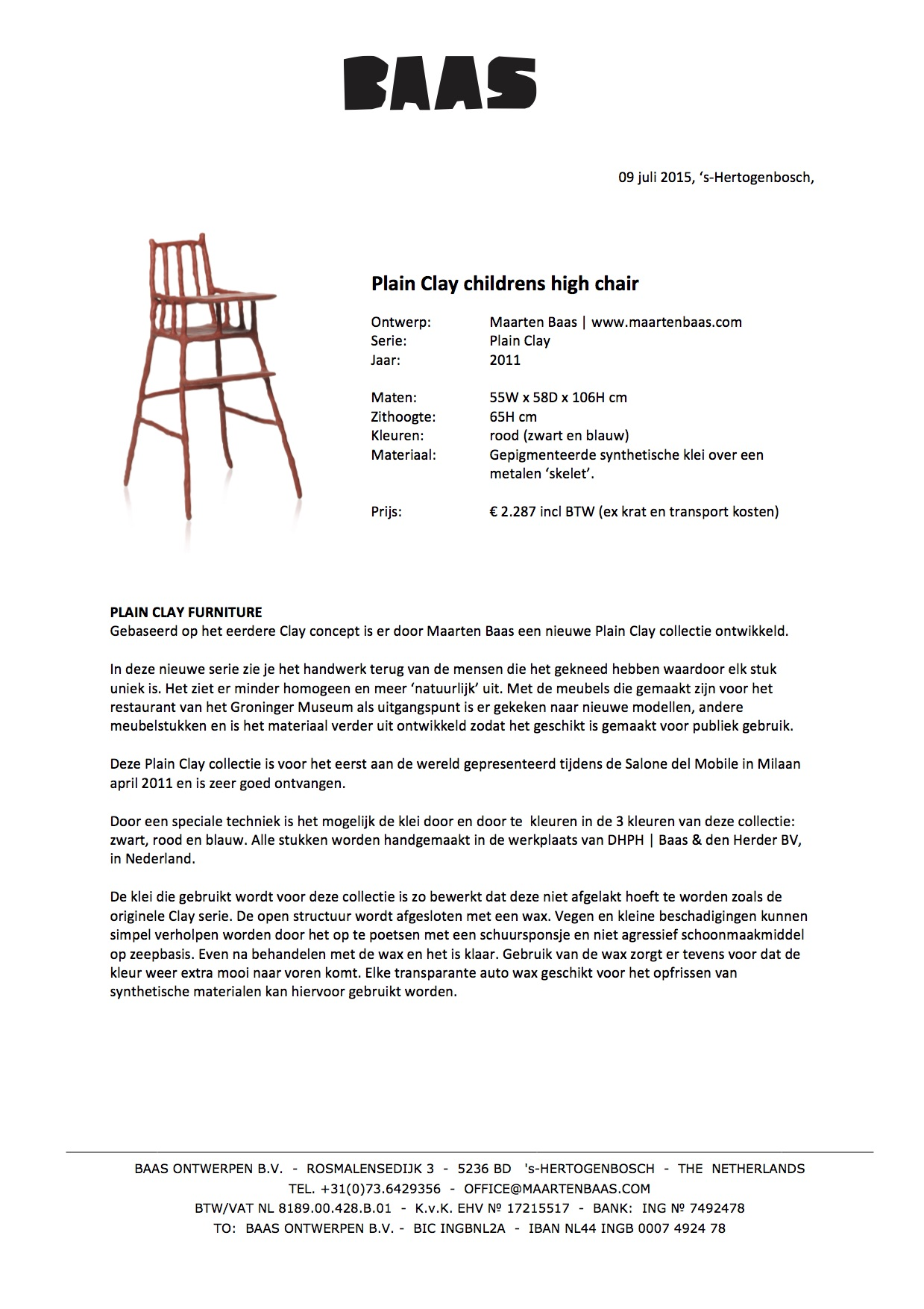 PC childrens high chair