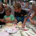 Mergel bewerken/sculpturing with Marl